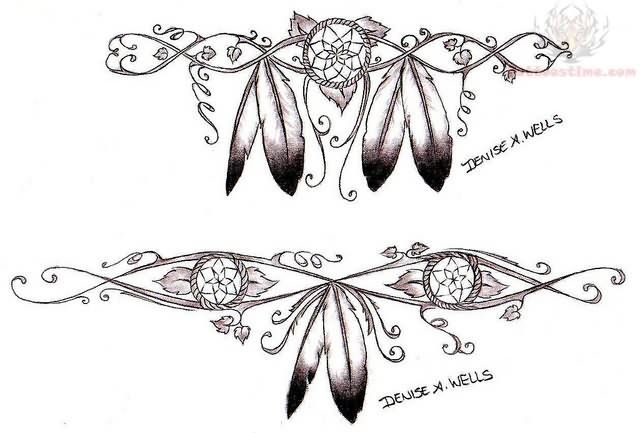 Native American Tattoo Designs And Meanings | Meanings http://www.tattoopins.com/1523/native-american-feather-tattoo ...
