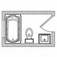 25 best ideas about 5x7 bathroom layout on pinterest tv for 9x5 bathroom ideas