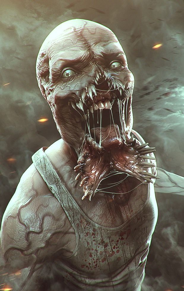 Art numérique par Idrassi Soufiane #digitalart #creature #horror