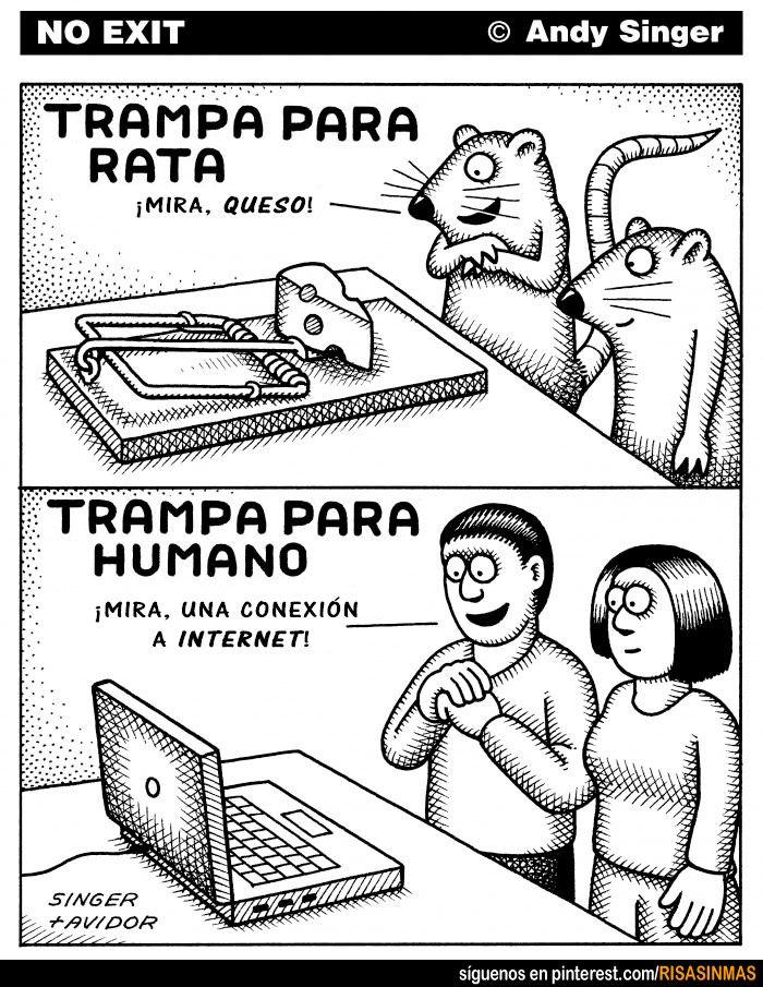 Trampa para rata. Trampa para humano.