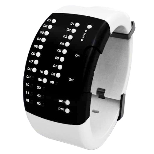 Special Edition New Trendy LED Watch on Silicone Bend (White)