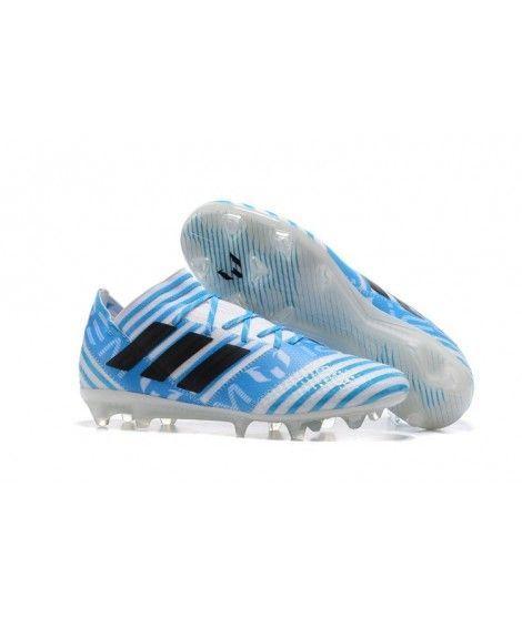 on sale 457c5 e803f Adidas Nemeziz 17.1 FG FAST UNDERLAG Vit Blå Svart Fotbollsskor