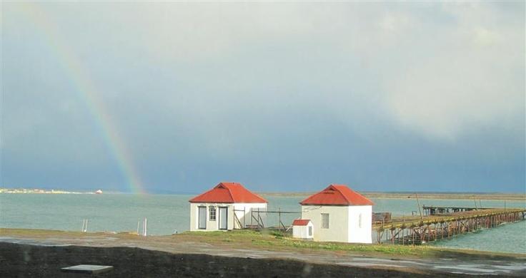 Rainbow over Last Hope Sound, Puerto Natales