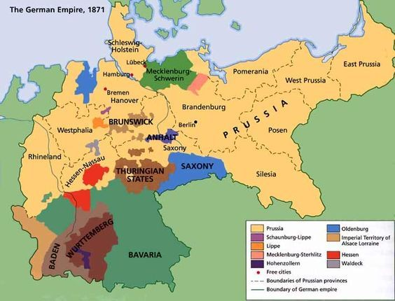 Germany was unified in 1871, before this it was a sector of Europe made up of many countries. Germany Consisted of, East Prussia, West Prussia, Pomerania, Posen,Silesia, Brandenburg, strelitz, saxony, hanover, oldenburg, hesse nassau, westphalia, and rhineland. These countries were all apart of the kingdom of prussia. Part2 https://www.pinterest.com/pin/393642823665101609/
