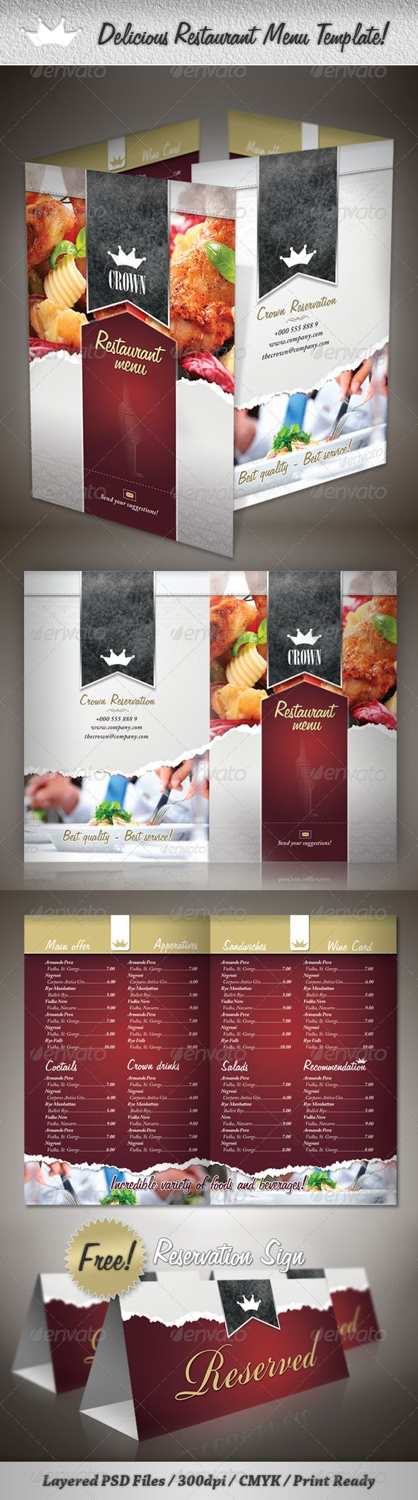 Best Menus Images On   Food Menu Template Menu