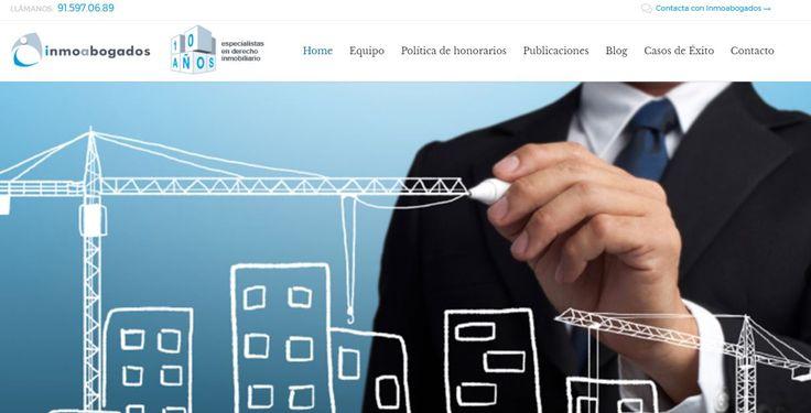 """El bufete de abogados """"Inmoabogados"""" ha aprovechado el verano para encargarnos el nuevo diseño de su web y así, en Septiembre, aparecer con una imagen totalmente renovada en su web, con nuevas secciones, textos actualizados, nuevos servicios, nuevas fotografías, etc."""