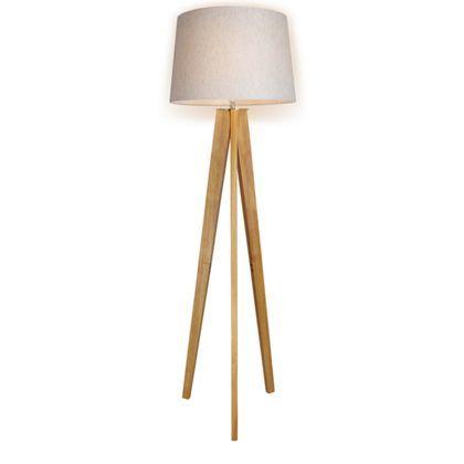 Poppy Tripod Floor Lamp - Natural