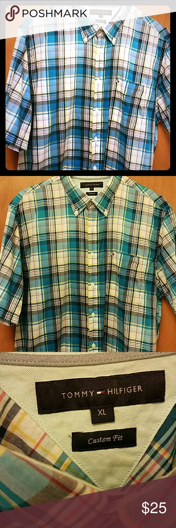 Mens Tommy Hilfiger Button Down Shirt -XL Custom fit Tommy HILFIGER -XL -No defects like new Tommy Hilfiger Shirts Casual Button Down Shirts