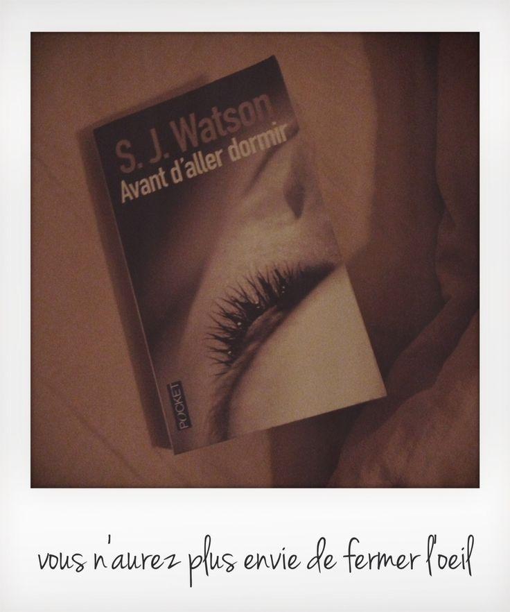 Avant d'aller dormir de S.J Watson