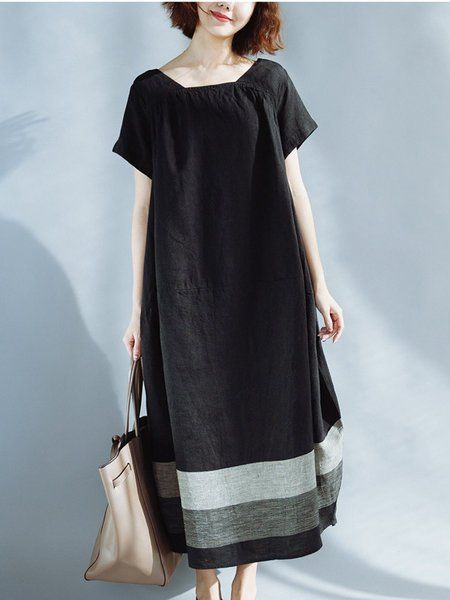 68ca9fb9521 Buy Linen Dress For Women from VIVID LINEN at Stylewe. Online Shopping Stylewe  Square neck
