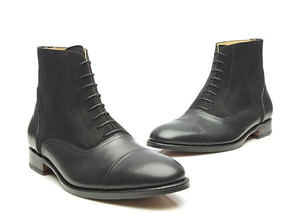 SHOEPASSION.com – uszyte ramowo buty Balmoral w kolorze czarnym
