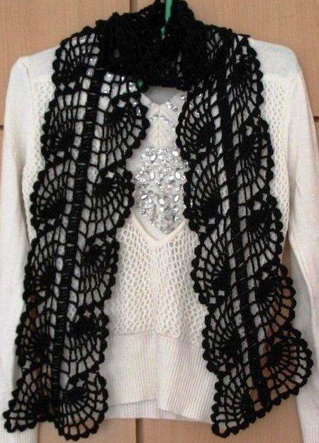 crochet scarf or bookmark pattern