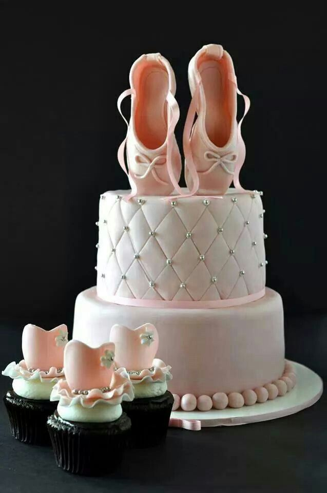 Cake Decorations Ballet Shoes : 29 best Pointe birthday cake ideas images on Pinterest