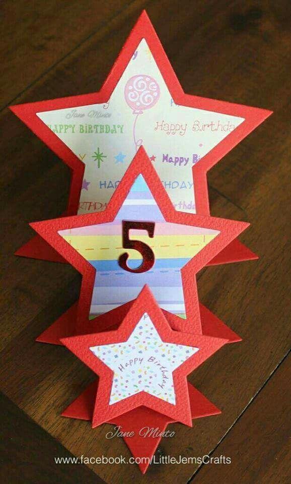 Triple easel star card