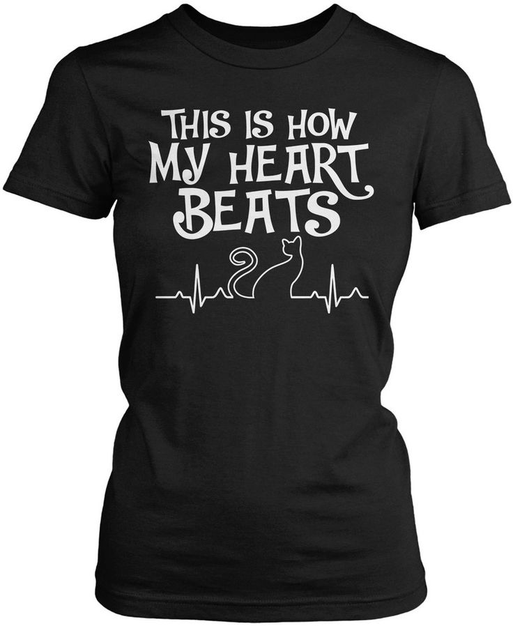 This is how my heart beats. The perfect t-shirt for cat lovers Available here - http://diversethreads.com/products/cat-heart-beat?variant=7771978373