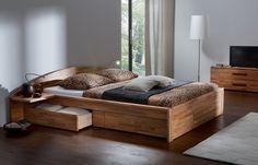 Hasena Contemporary Designer Beds » Hasena Berga - Storage / Platform Bed with Drawers » Hasena Berga - Storage / Platform Bed with Drawers - Head2Bed
