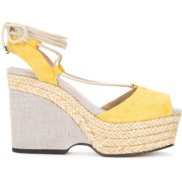 Castañer raffia braided sandals (2.261.955 IDR) ❤ liked on Polyvore featuring shoes, sandals, woven shoes, woven sandals, braided shoes, raffia sandals and castaner shoes