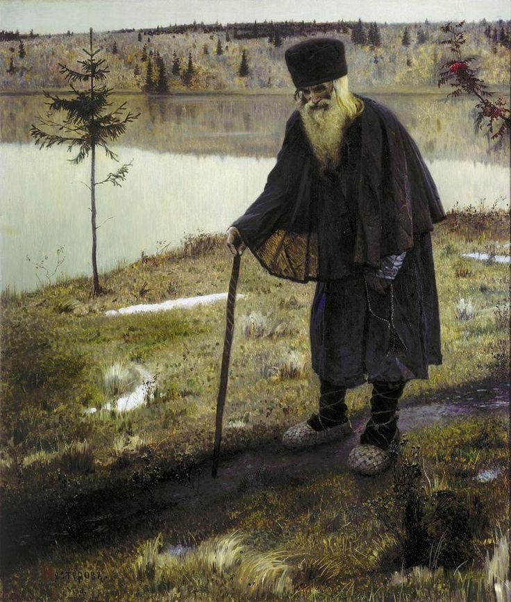 Михаил Васильевич Нестеров » Картины, живопись » Пустынник, 1888-1889