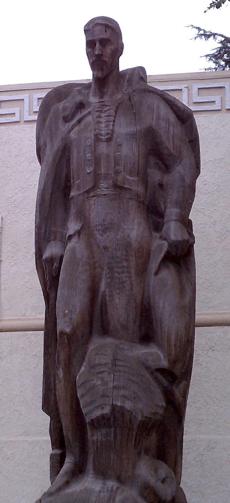 LA County Fair Art at 90 – Where it All Began. John Edward Svenson, The Ranchero sculpture in wood, Millard Sheets Center for the Arts, 1953 (photograph 2010)