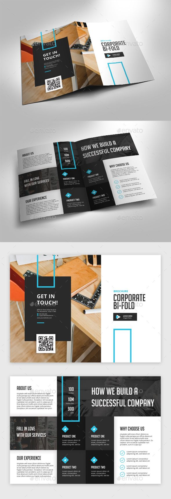 Bifold Corporate Brochure Template PSD