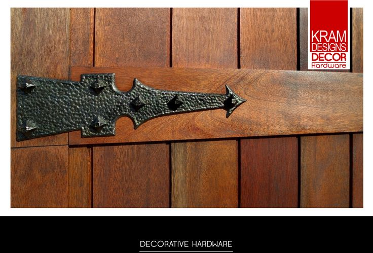 Dungeon Hinge from Kram Designs Decor Hardware Hinge collection was fitted to create this unique look.