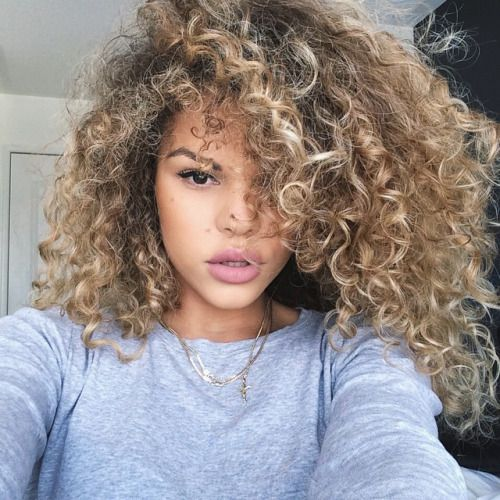 ideas about Blonde curly hair on Pinterest - Hairstyles curly hair ...