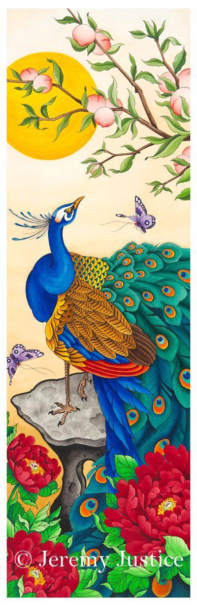 fine artistic geisha art with peacock | Fine Art Reproduction: Seattle