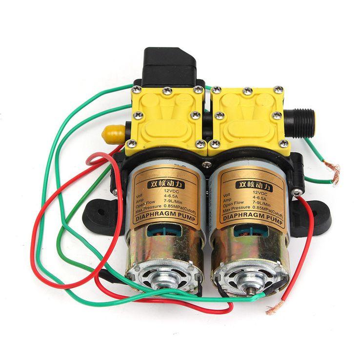 MTGATHER High Pressure DC 12V Diaphragm Car Water Pump Double Pump Motor Washer Self Priming Caravan