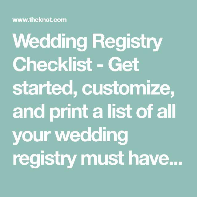 Wedding Registry Finder: Best 25+ Wedding Registry Checklist Ideas On Pinterest