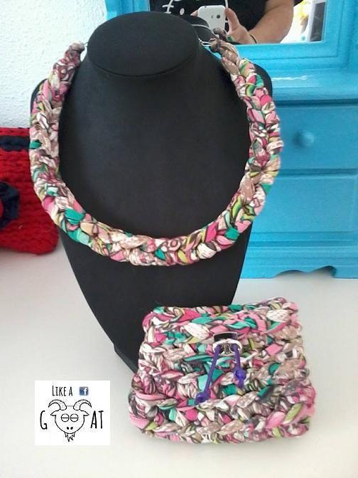 collar+monedero a trapillo