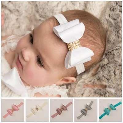 Hermosas Diademas Con Moño Para Bebes Niñas - $ 120.00 en MercadoLibre