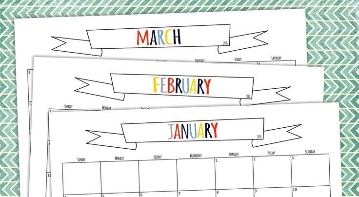 印刷可能な2015年カレンダー