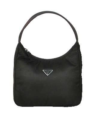 Prada Mv519 Handbag Black Tessuto Cosmetic Bag