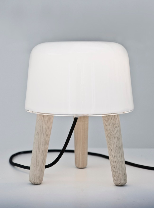DomésticoShop - Lámpara Milk Cable Negro Table