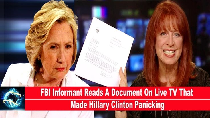 FBI Informant Reads A Document On Live TV That Made Hillary Clinton Panicking(VIDEO)!!! - YouTube