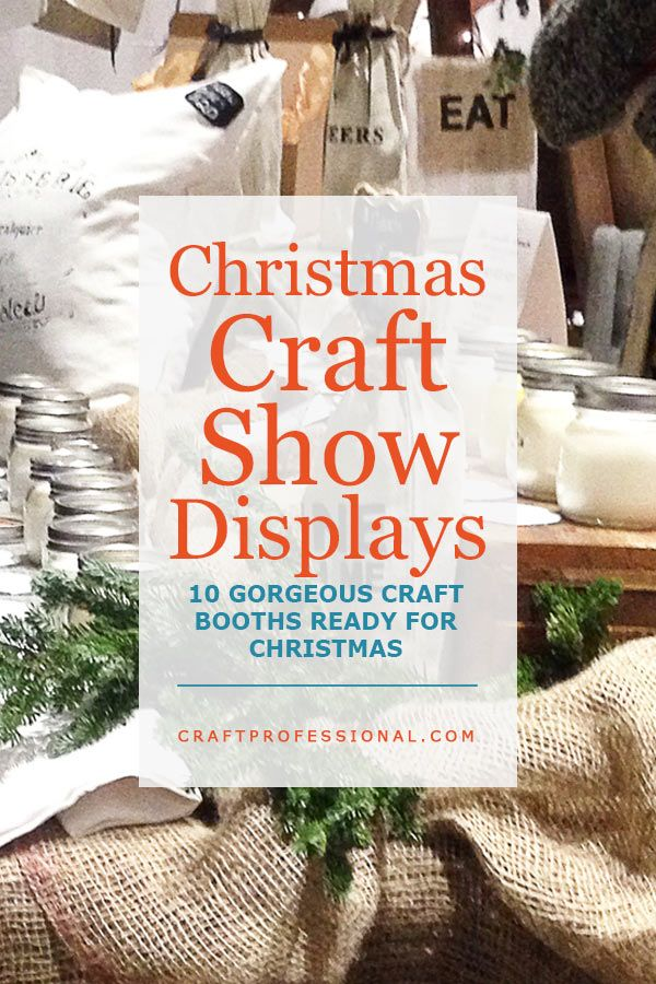10 Christmas craft fair booth photos - Lots of ides to brighten your craft show display for holiday sales. http://www.craftprofessional.com/christmas-craft-fair.html