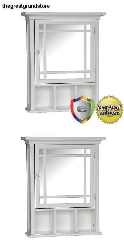 Medicine Cabinets 176991: Wood Medicine Cabinet Classic Mirror Storage Shelf Bathroom Furniture White Bath -> BUY IT NOW ONLY: $69.5 on eBay!