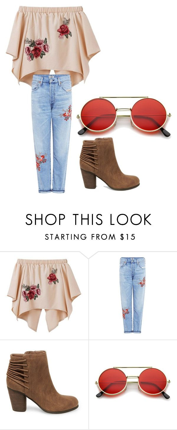 """""""Untitled #31"""" by margaretbistolfi on Polyvore featuring Citizens of Humanity, Steve Madden and ZeroUV"""