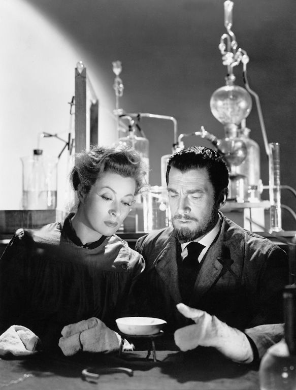 Marie and Pierre Curie - Greer Garson and Walter Pidgeon in Madame Curie (1943).