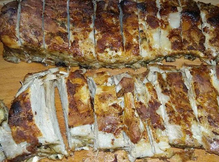 Coaste de porc marinate, la cuptor - Bucataria lui tati