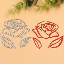 Rosa flor de metal troquelado scrapbooking carpeta de grabación en relieve juego para fustella big shot sizzix muere máquina de corte(China (Mainland))