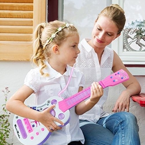 Kids Electric Guitar Musical Instrument Toddler Educational Music First Steps