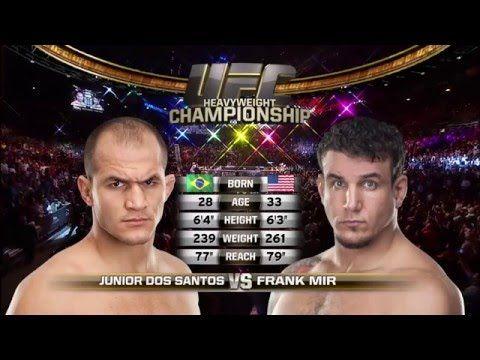 Fight Night Zagreb Free Fight: Junior Dos Santos vs Frank Mir - YouTube