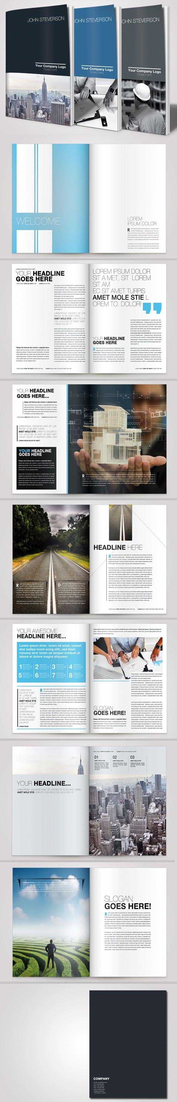A4 Business Brochure Vol. 02 by Danijel Mokic, via Behance
