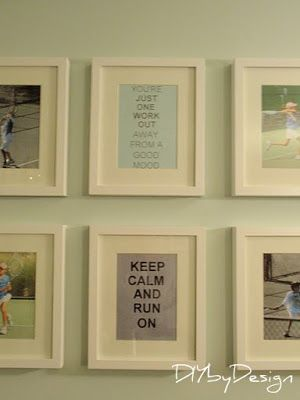 Workout room motivational artwork decor
