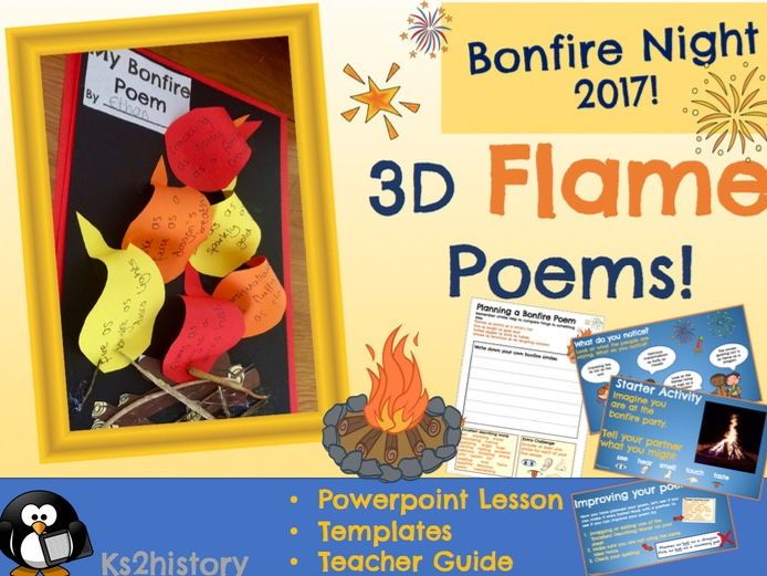 3D Flame Poems (Bonfire Night Poetry)