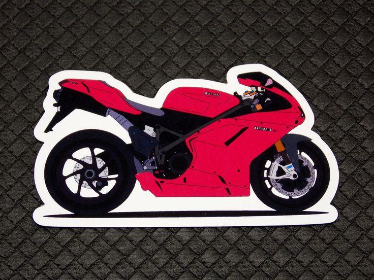 Ducati 1198 Superbike Flexible Fridge Refrigerator Magnet Unique Gift by Osarix