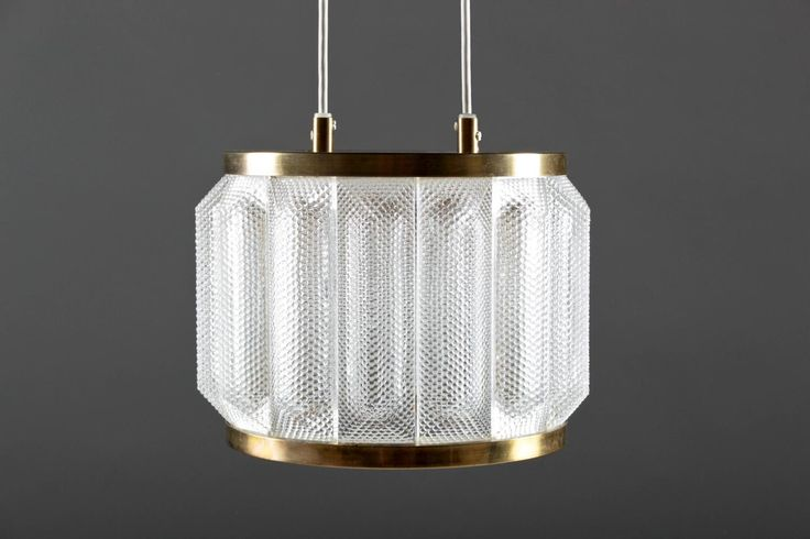 Swedish Pendant in Glass and Brass 5
