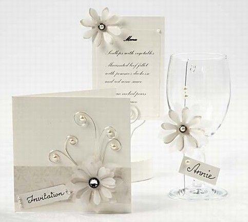 Cream Cards with Vellum Paper Flowers