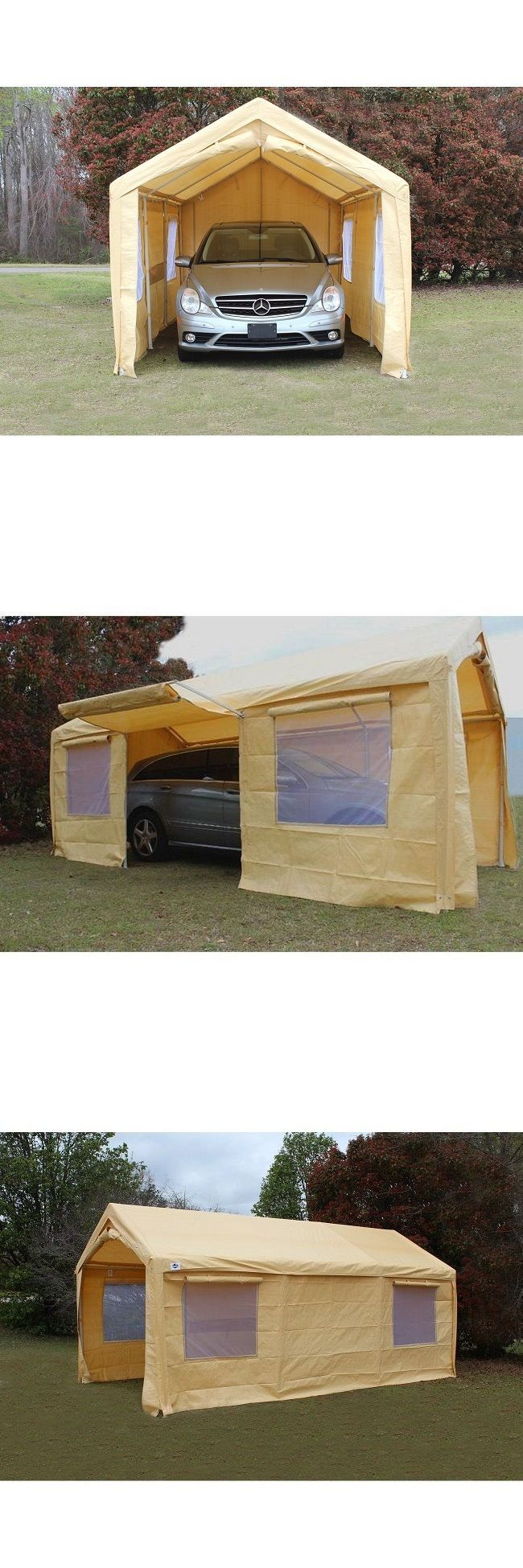 Awnings and Canopies 180992: Carport Tent Canopy Carports 10X20 Portable Frame Steel Enclosed Side Wall Kit -> BUY IT NOW ONLY: $291.35 on eBay!